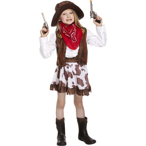 Children Cowgirl Costume Kids Fancy Dress Book Week Outfit