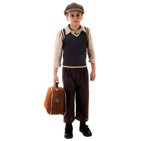 Child Evacuee Boy Costume Kids Fancy Dress Book Week Outfit