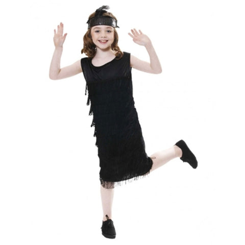 Child Flapper With Tassles Kids Fancy Dress Book Week Outfit
