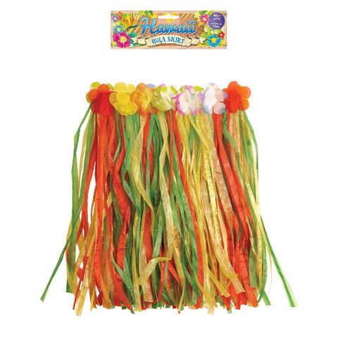 Child Hula Skirt With Flowers Hawaiian Beach Party Dress