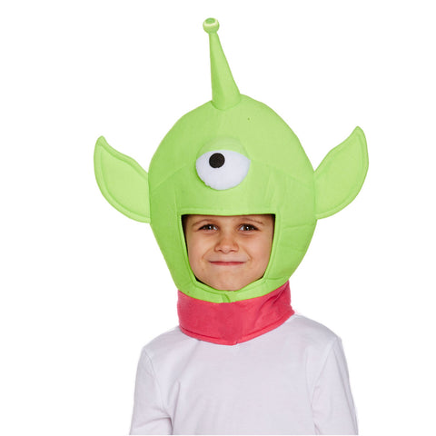 Children Boys Girl One Eyed Monster Hat Space Alien Story Fancy Dress Accessory