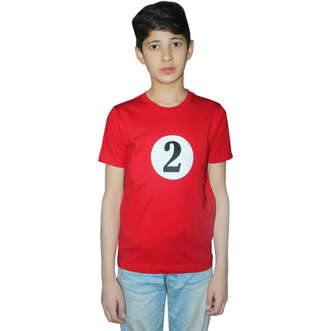Children 2 Red Printed T-Shirt Book Week Outfit
