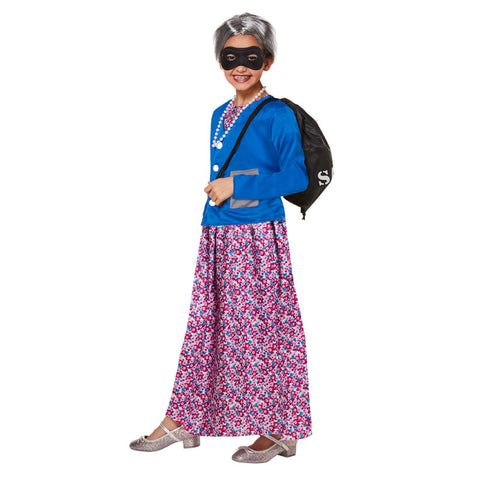 Children Naughty Grandma Granny Fancy Dress Kids Costume