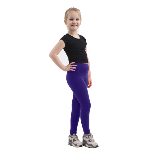 Children Navy Cotton Leggings Full Length