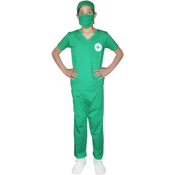 Children Surgeon Doctor Costume Hospital Surgery Kids Fancy Dress Outfit