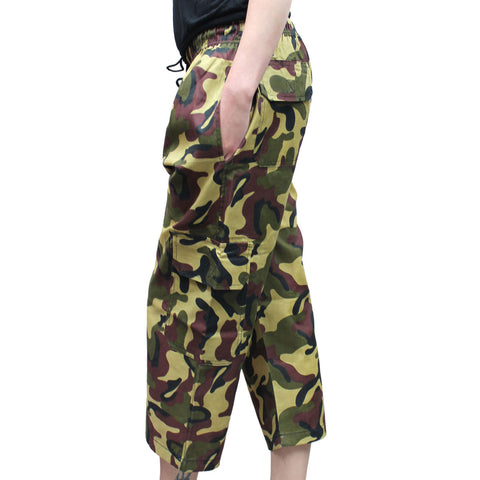 Children Camouflage 3/4 Trouser Army Combat Fancy Dress
