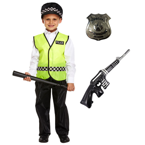 Childs Policeman Fancy Dress Special Police Cop Costume