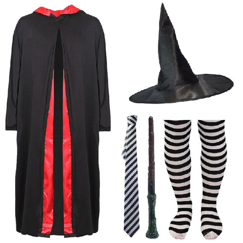 Childs Witch Costume World Book Day Kids Girls Wizard Fancy Dress