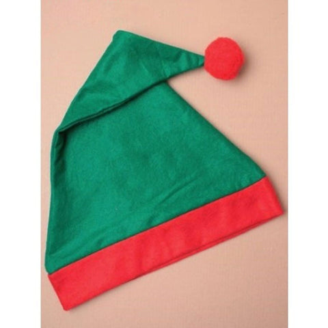 Christmas Adult Red & Green ELF Xmas Hat