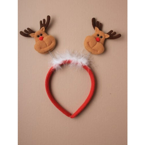Christmas Reindeer Deeley Boppers Xmas Headband