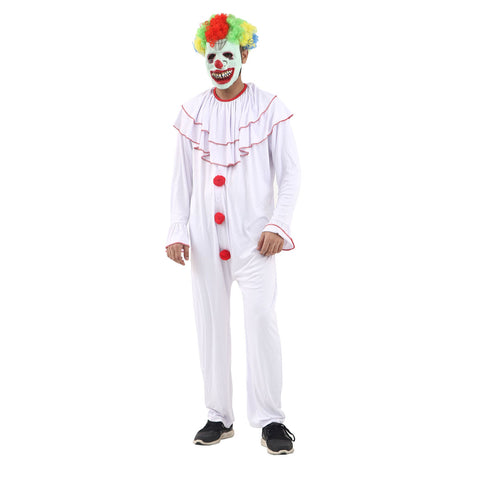 Adult Scary Clown Costume Halloween Fancy Dress