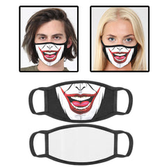 Clown Printed Cotton Face Mask With Filter Pocket