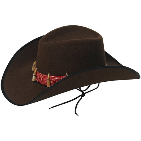 Brown Cowboy Hat with Teeth (Adult)