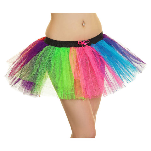 3 Layers Crazy Chick Women Rainbow Pride Short TuTu Skirt