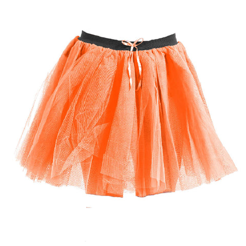 Women Crazy Chick 3 Layers Purple Ribbon TuTu Skirt