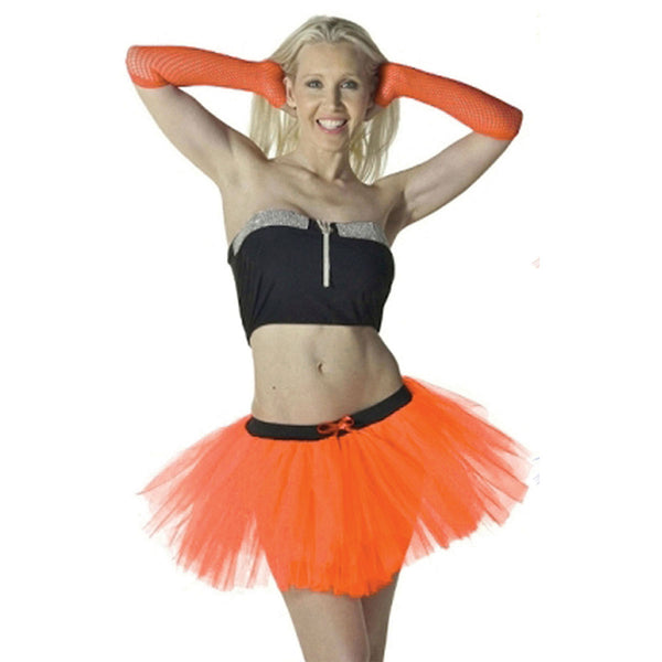 Crazy Chick 3 Layers Plain Orange TuTu Skirt Fancy Dress Costume