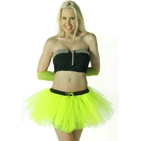 3 Layers Crazy Chick Women Plain Yellow Short TuTu Skirt