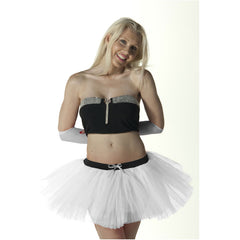 3 Layers Crazy Chick Women Plain White Short Angel TuTu Skirt