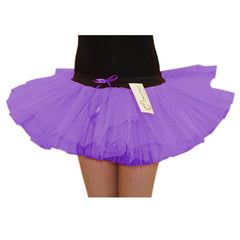 Girls 3 Layers Crazy Chick Plain Purple Short TuTu Skirt