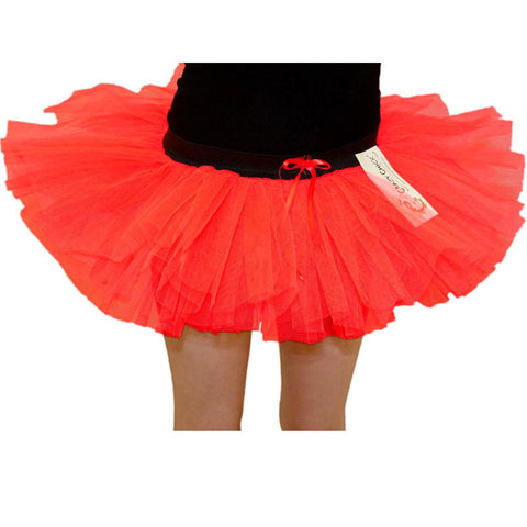 Girls 3 Layers Crazy Chick Red Devil Short TuTu Skirt