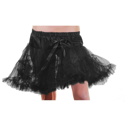 Crazy Chick Girls Black Layered Ruffle Petticoat TUTU Skirt Fancy Dress