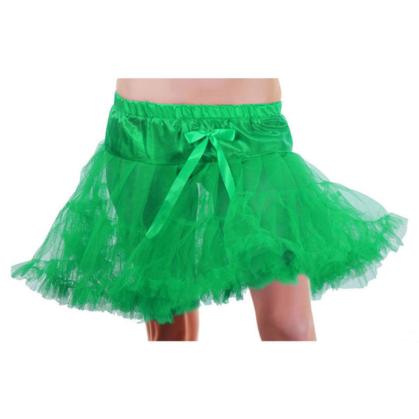 Crazy Chick Girls Green Layered Ruffle Petticoat TUTU Skirt