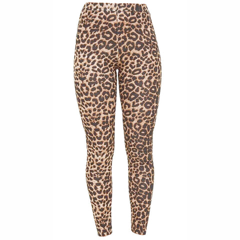Girls Microfiber Leopard Print Stretchy Slim Fit Leggings