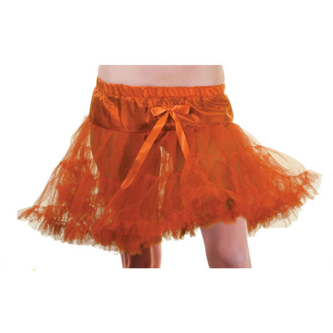 Crazy Chick Orange Layered Ruffle Petticoat TUTU Skirt Fancy Dress