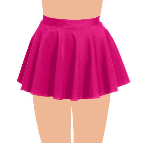 Girls Plain Pink Circular Skirt All Round Pleated School Skirts