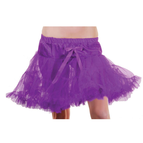Crazy Chick Girls Purple Layered Ruffle Petticoat TUTU Skirt Fancy Dress