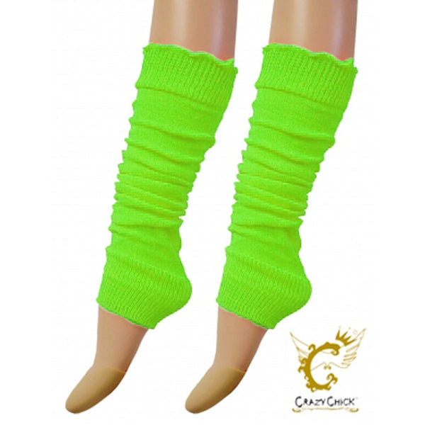 Crazy Chick Womens Green Plain Leg Warmer