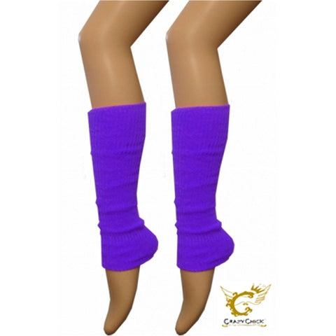 Crazy Chick Womens Plain Purple Leg Warmer