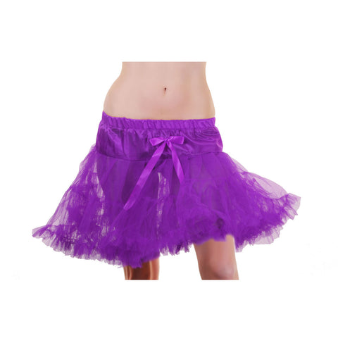 Crazy Chick Purple Layered Ruffle Petticoat TUTU Skirt Fancy Dress