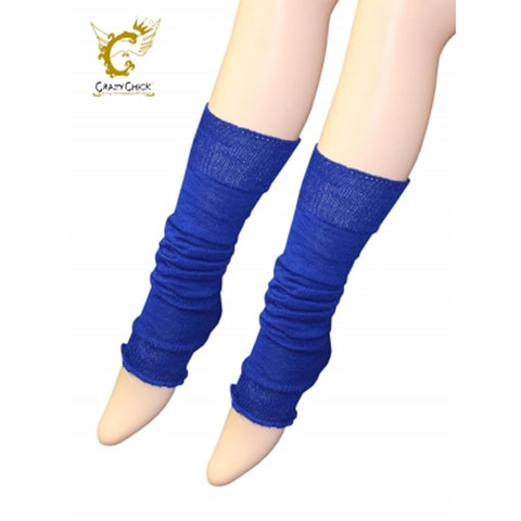 Crazy Chick Womens Royal Blue Plain Leg Warmer
