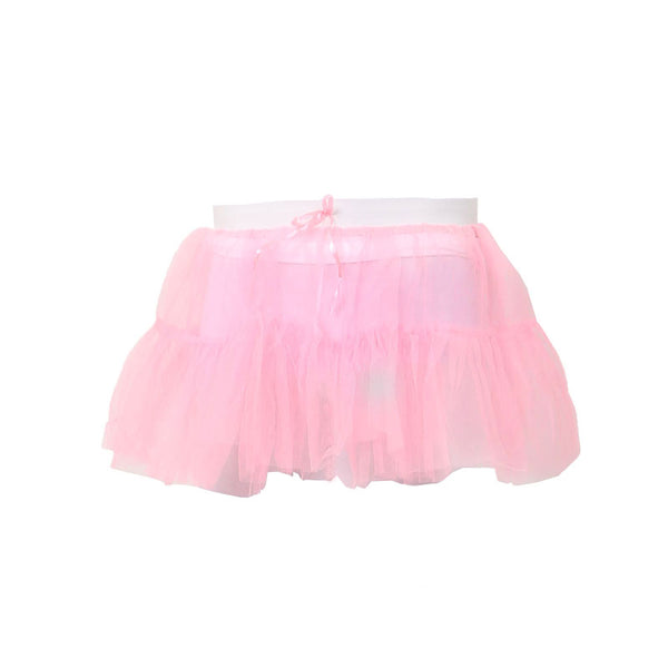 Crazy Chick Women 2 Layers Baby Pink Fancy Dress TuTu Skirt