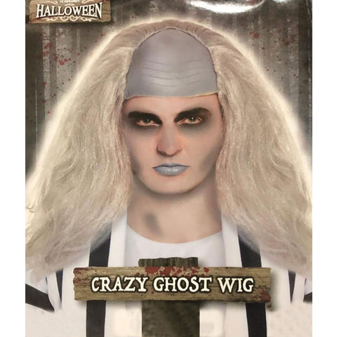 Adults Crazy Ghost Male Wig 130g Mens Halloween Party Fancy Dress Wig Accessory