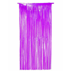 "Purple Shimmer Foil Tinsel Door Curtain Garlands Birthday Party Decorations 36"" X 72"""