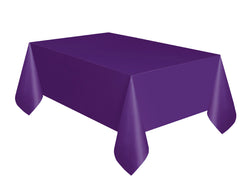 Deep Purple Plain Table Cover 54 x 108 Inches