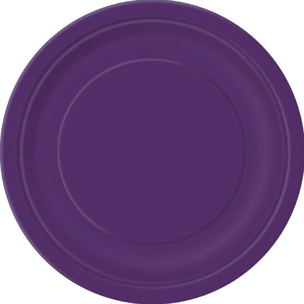 Plain Plates Deep Purple 9 Inches (Pack of 16)