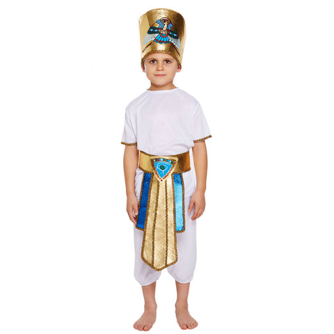 Children Egyptian Boy Kids Fancy Dress Book Week Outfit