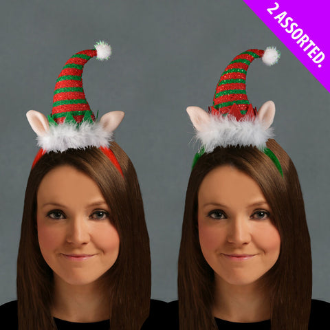 Christmas Luxury ELF Headband 1 Assorted Xmas Hat Accessory