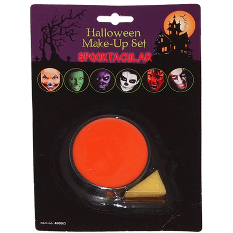 Halloween Face Paint Orange Base Make Up With Applicator