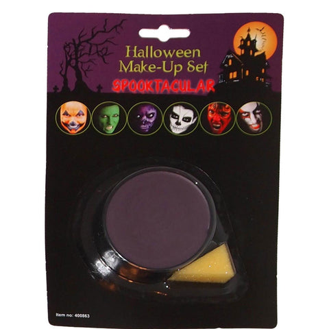 Halloween Face Paint Purple Base Make Up With Applicator