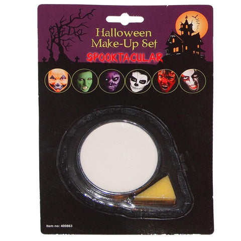 Halloween Face Paint White Base Make Up With Applicator