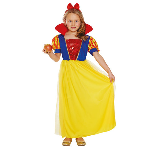 Snow Girls Fancy Dress Princess Costume Outfit