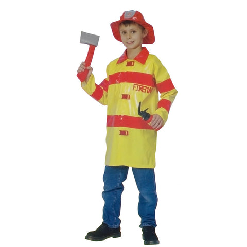Children Fireman Costume Kids Fancy Dress Book Week Outfit