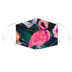 Animal Flamingo Print Face Mask With Filter Pocket