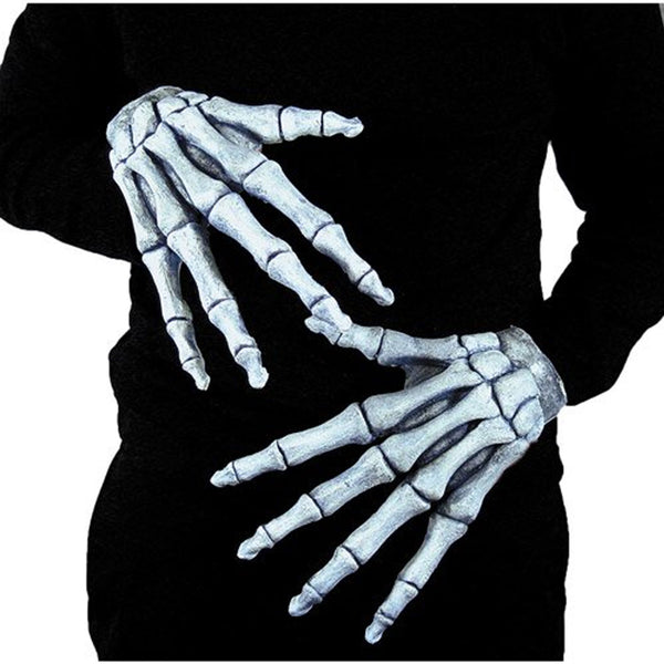 Halloween Ghostly Bones Hands Scary Gloves Accessory