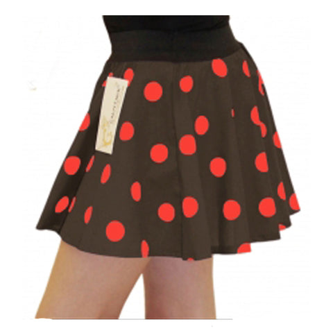 Girls Brown Red Polka Dot Skirt Fancy Dress School Skirts