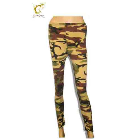 Girls Microfiber Camouflage Leggings Dance Wear Fancy Dress